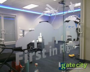 Frosted And Etched Vinyl Window Graphics For Your